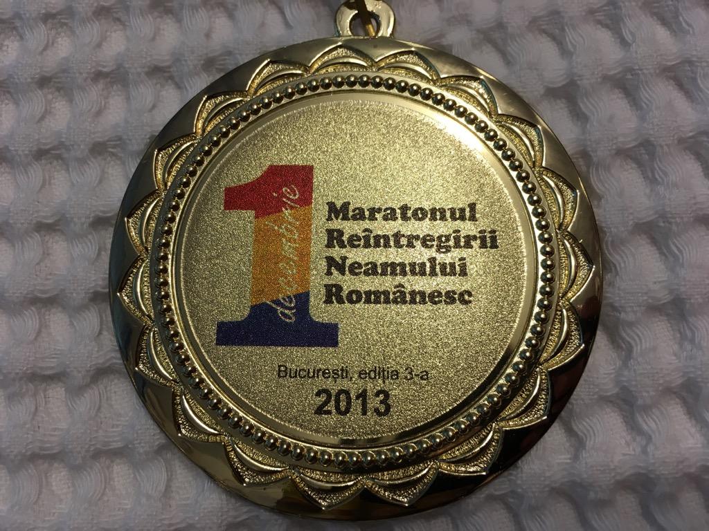 Medalie 2013 - Maratonul 1 Decembrie