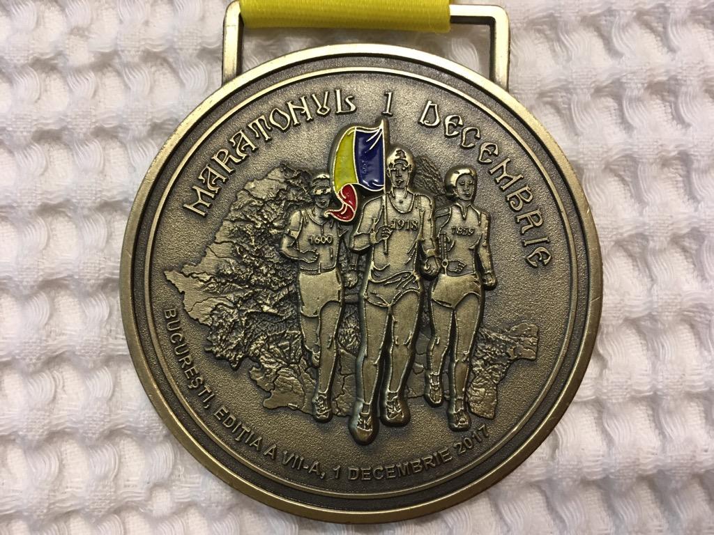 Medalie 2017 - Maratonul 1 Decembrie