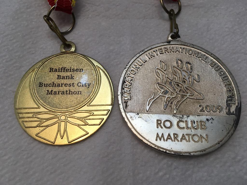 Medalie 2009 - Maratonul International Bucuresti