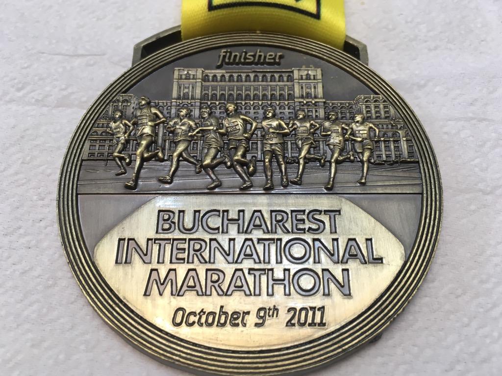Medalie 2011 - Maratonul International Bucuresti