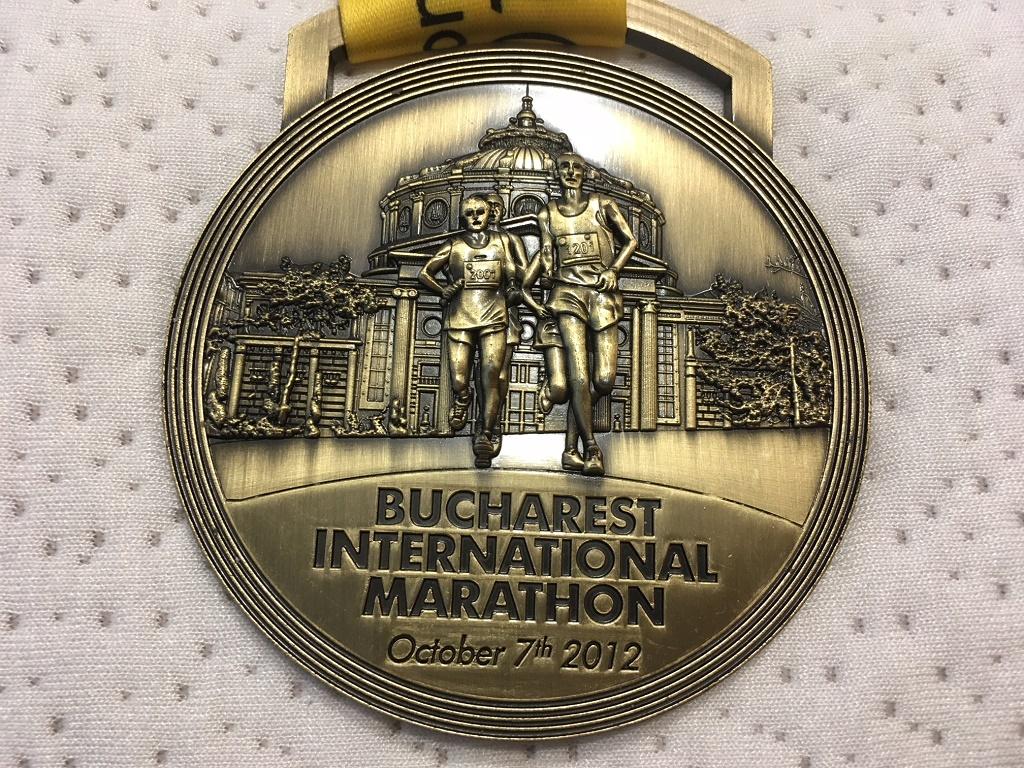 Medalie 2012 - Maratonul International Bucuresti