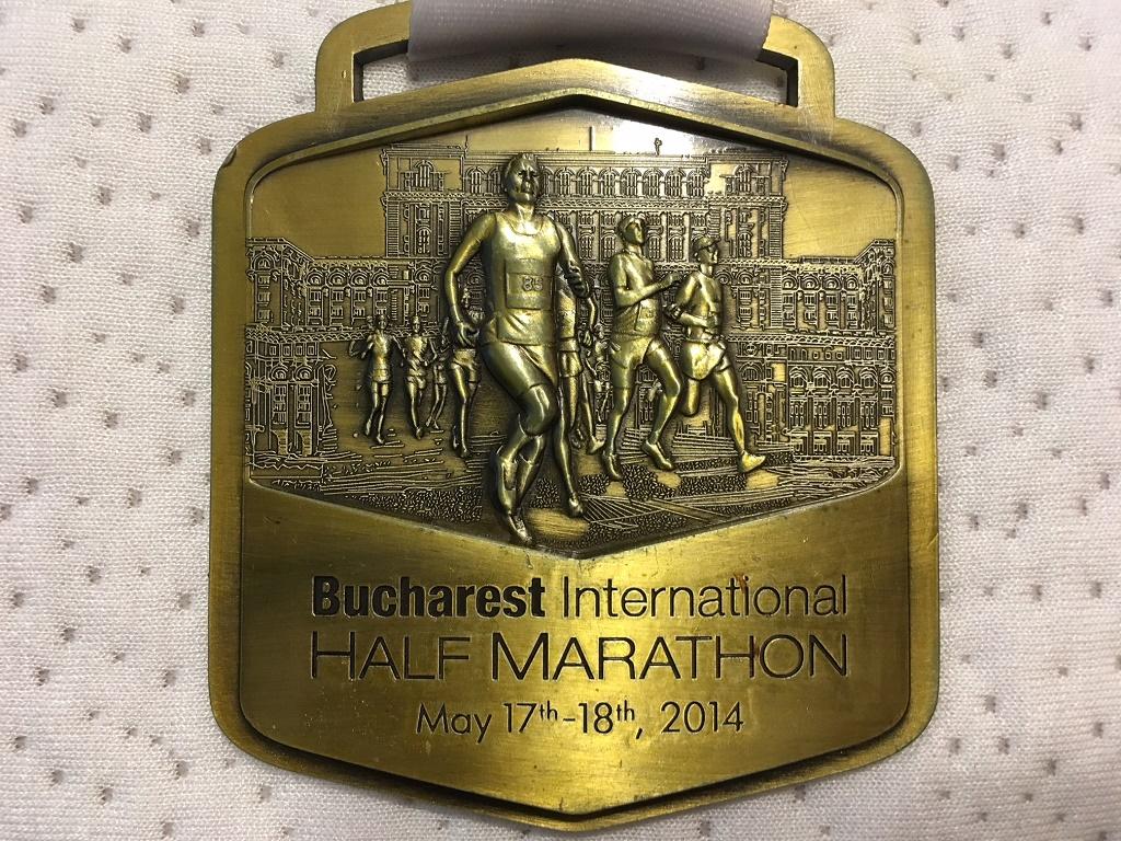 Medalie 2014 - Semimaratonul International Bucuresti
