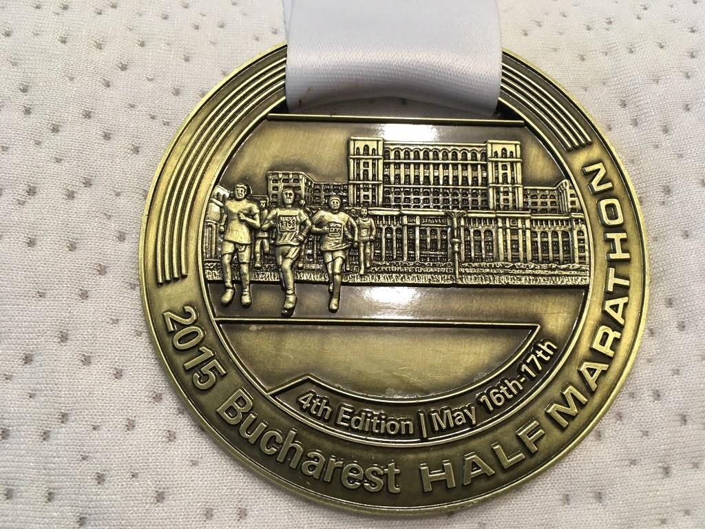 Medalie 2015 - Semimaratonul International Bucuresti