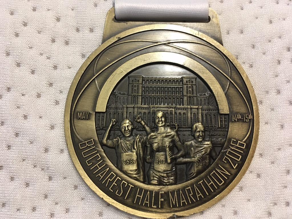 Medalie 2016 - Semimaratonul International Bucuresti