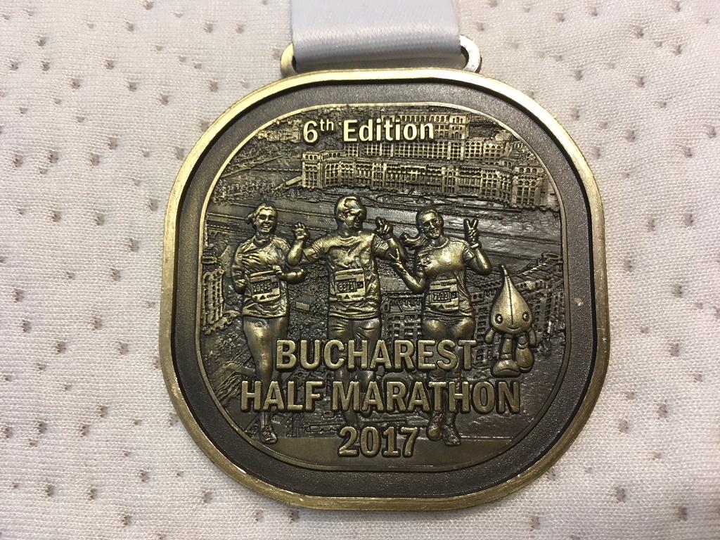 Medalie 2017 - Semimaratonul International Bucuresti