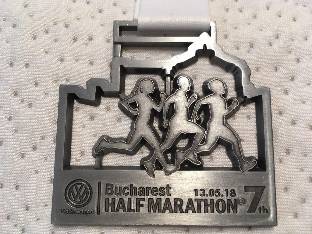 Medalie 2018 - Semimaratonul International Bucuresti